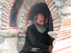 A genuine Georgian monk With our easy access to information, anyone can get an idea of the natural beauty the Caucasus Mountains hold. You can learn all about the history of this Orthodox Christian country, surrounded by Islamic states. You could probably even find some Georgian cuisine in a major city. But experiencing Georgia and the Mountains of Poetry firsthand is the only way to understand this wonderful culture's own fierce passion.