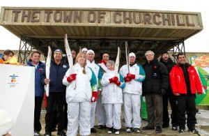 The town of Churchill welcomes the 2010 Olympic Flame!