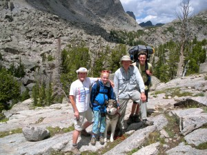 My family and me in the WInd River Range of Wyoming