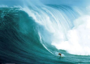 Laird Hamilton riding a big one