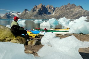 Lunch stop in Kangerdvitsiaq Fjord, East Greenland. Image copyright Olaf Malver.
