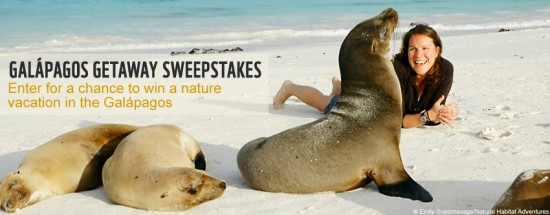 Galapagos Getaway Sweepstakes – Deadline Oct. 31!
