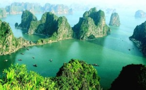 The limestone islands of Vietnam's Ha Long Bay - sheer delight for kayakers