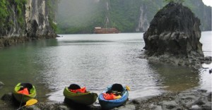 Paddling Vietnam's mystical Ha Long Bay.