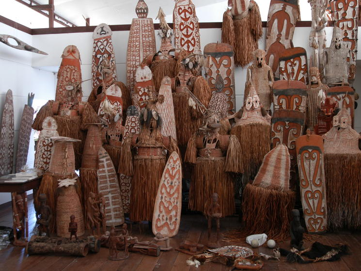 Asmat wood carvings