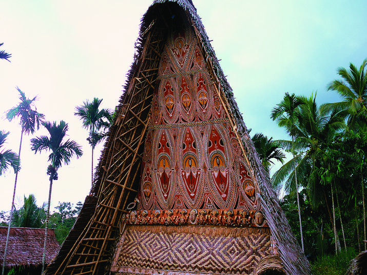 Sepik Spirit House in Papua New Guinea