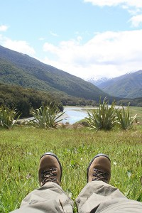 Hiking boots in New Zealand