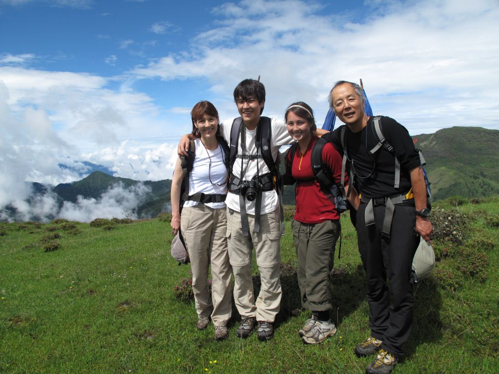 A family with teens traveling in Bhutan