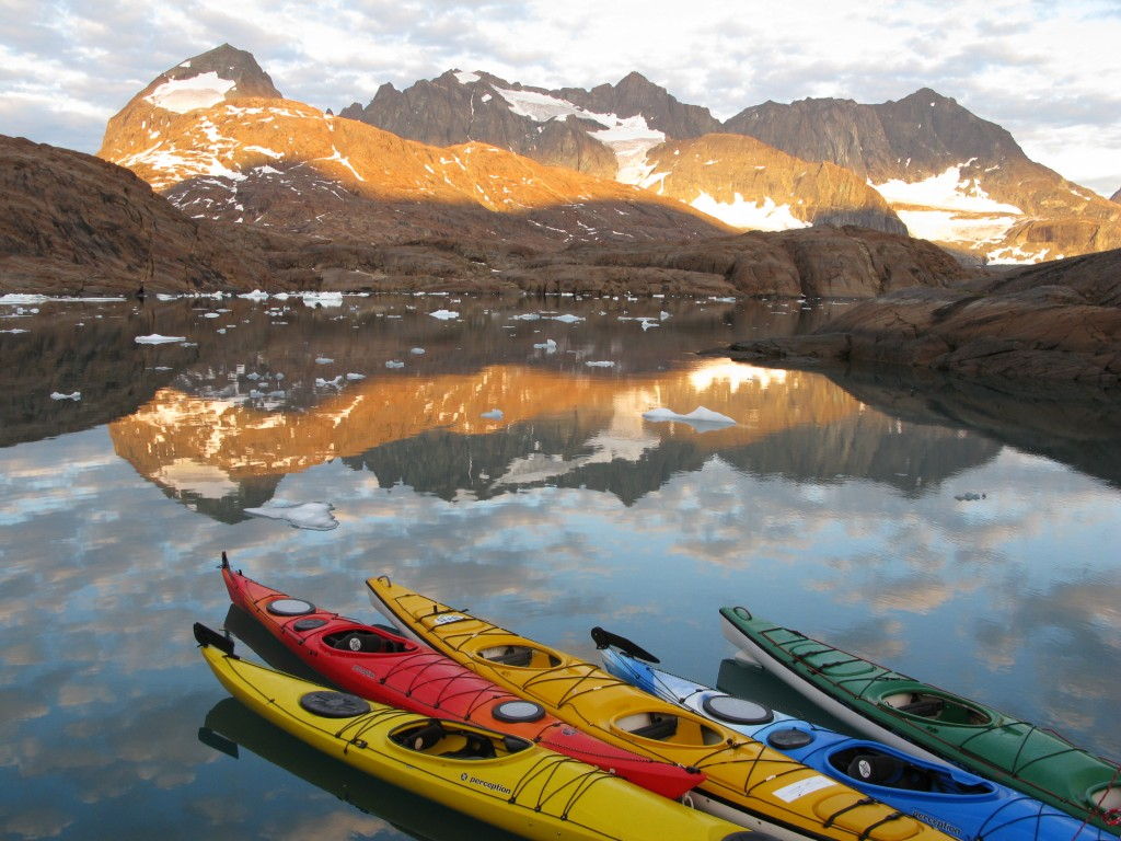 Kayaks in Greeland