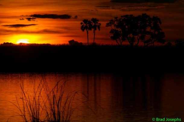 most beautiful sunset, Botswana, Africa