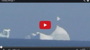 Video: Fata Morgana Over a Newfoundland Iceberg