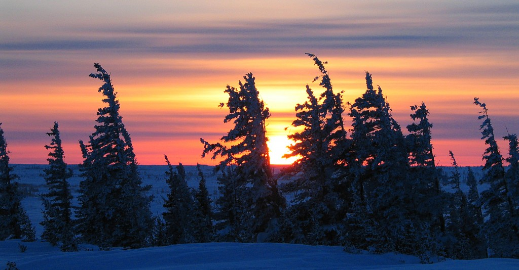 Majestic sunset near Churchill ©Erick Rock