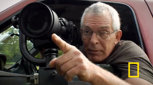 National Geographic photographer in a car