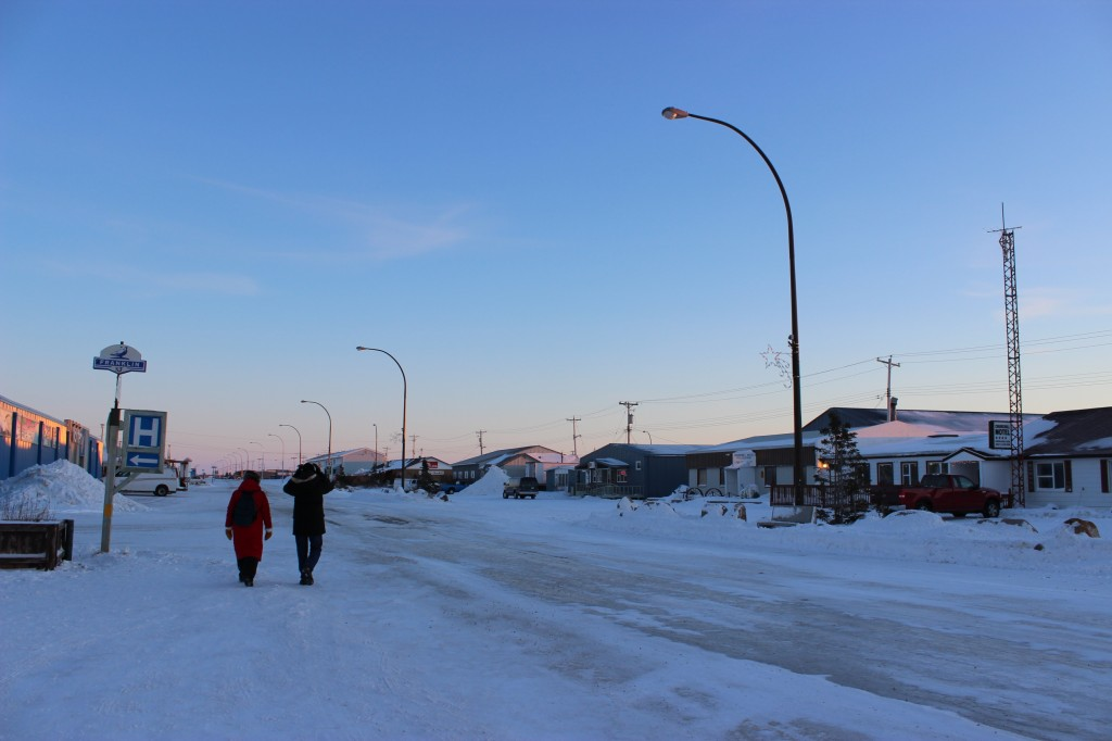 The main street in Churchill, a community of 300. © Tania Segura/WWF-US