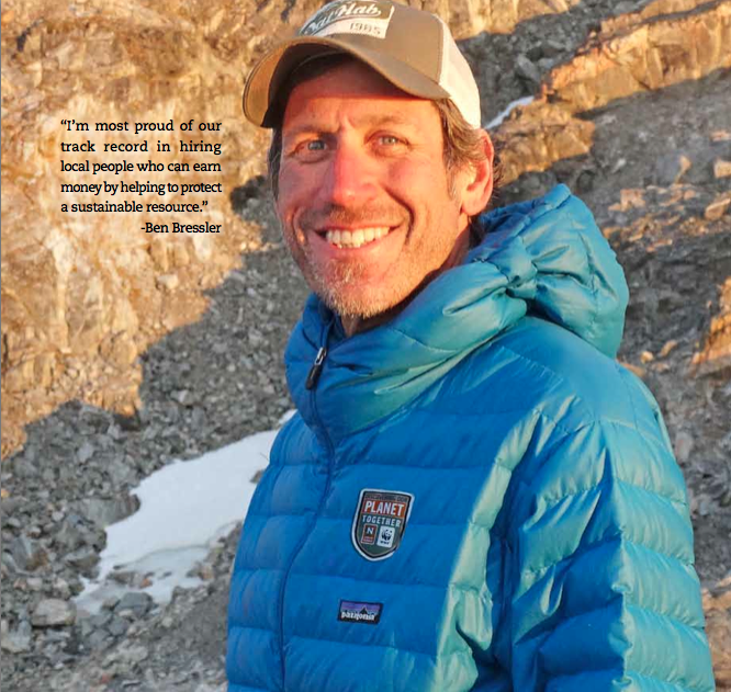 Ben Bressler, CEO of Natural Habitat Adventures smiles while hiking