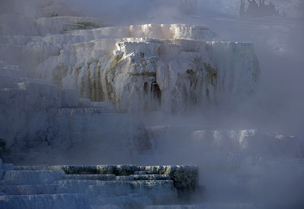 Yellowstone National Park's steaming thermal features are even more magical in winter. ©Candice Gaukel Andrews