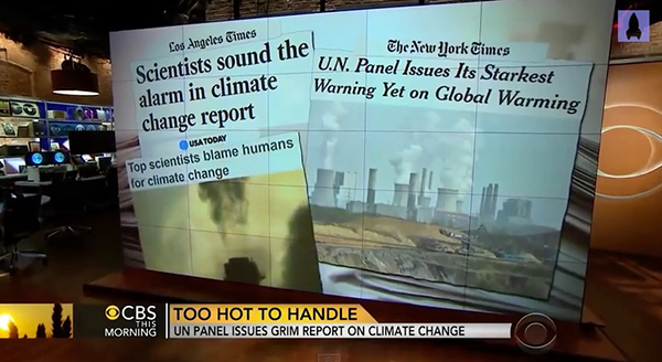 Climate change headlines