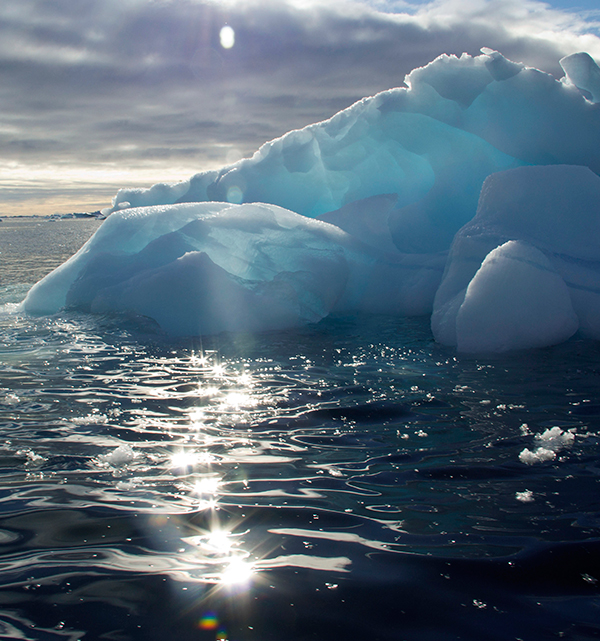 At one point in the summer of 2012, 97 percent of the surface of Greenland's massive ice sheet was melting. At current rates, scientists say Arctic waters could be ice-free in summer by the end of the decade. ©Candice Gaukel Andrews