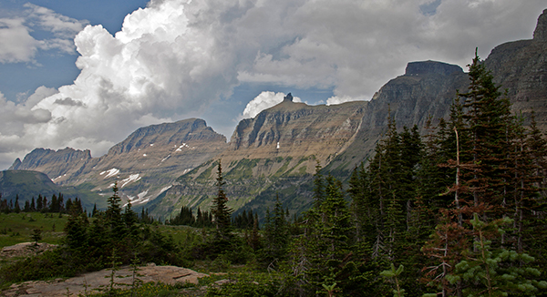 It's easy to see why the Blackfeet called Logan Pass the backbone of the world. ©Candice Gaukel Andrews