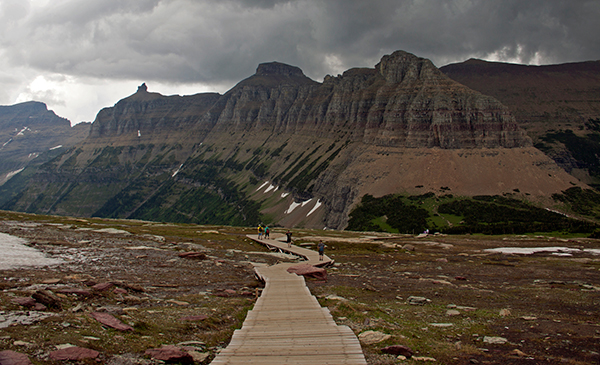 Because of the boardwalk, the Logan Pass trail seems easy at the beginning, but it soon takes you into a wild world. ©Candice Gaukel Andrews
