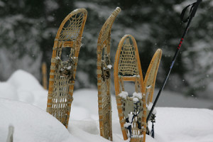 We've all heard stories about generations past that just put on snowshoes when blizzards hit. ©Eric Rock