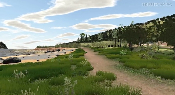 University of Birmingham Professor Bob Stone is working on creating virtual reconstructions of well-known places of natural beauty from all over the world. ©naturevideo, www.nature.com/nature