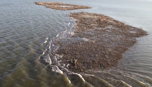 """For the past five years, the island's sediment has been washing away. From the video """"Gulf Oil Spill Disintegrated this Island,"""" ©National Geographic"""