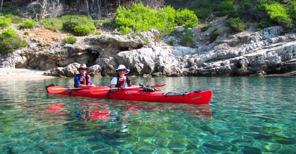 Croatia Kayakers in Mljet