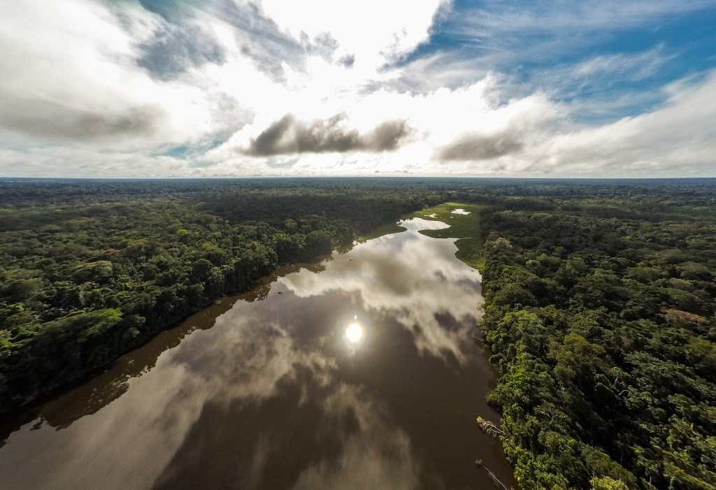 The Tambopata River is one of the longest and most-travelled rivers in Peru. Here, it cuts through Tambopata National Reserve, a protected area of dense mature forests, lakes, swamps and savannahs that can only be accessed by water. © Days Edge Productions/WWF-US