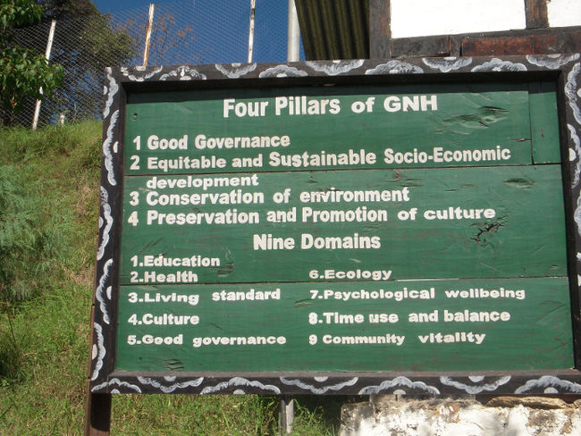 Bhutan's Four Pillars of Gross National Happiness