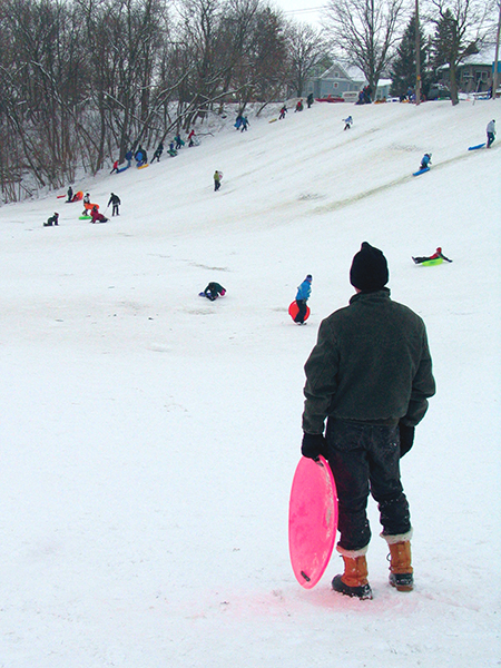 "Thirty years from now, will children know what a ""sledding hill"" is? ©John T. Andrews"