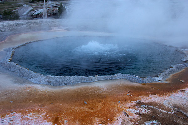 Hot springs in Yellowstone National Park have claimed 22 lives since 1890, far more than have been killed by grizzly bears or lightning strikes. ©John T. Andrews