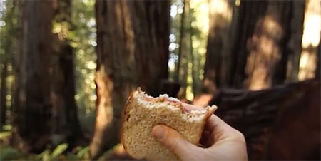 A sandwich can test like a five-star meal on the trail. ©Video, produced by NPCA