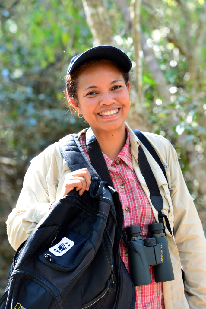 Domoina, WWF Madagascar Landscape Manager for the Tulear region, in Zombitse National Park. © Rachel Kramer/WWF-US