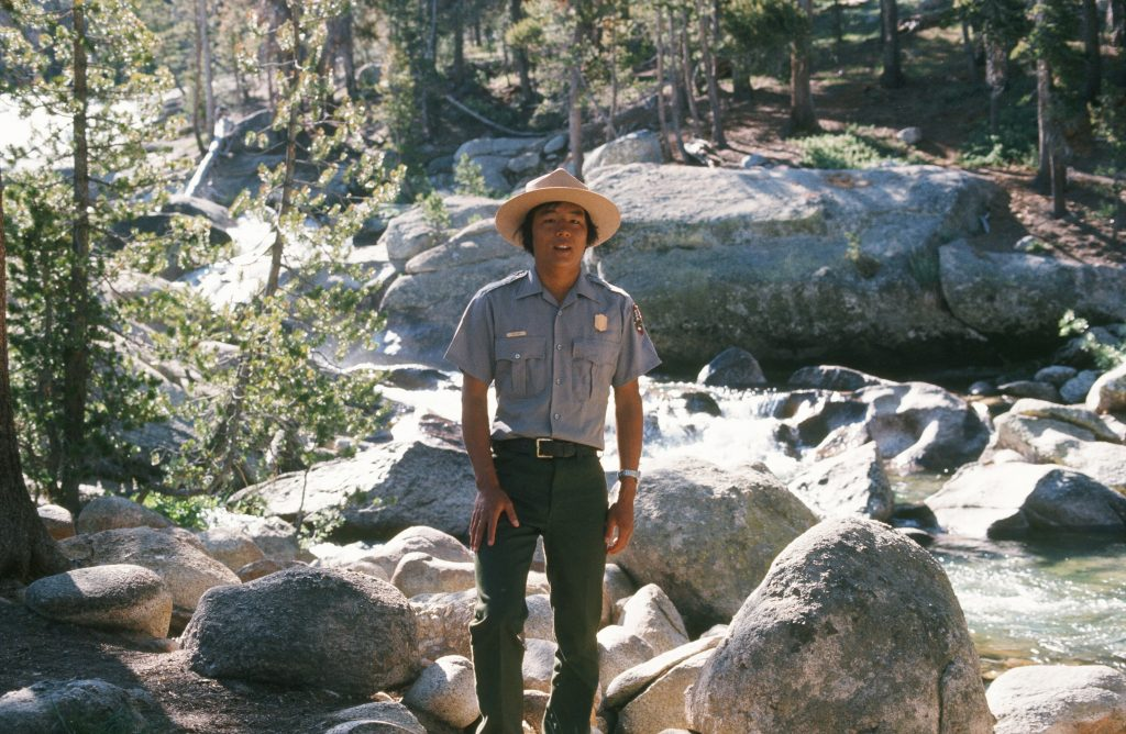 Jim Sano during his early days as a park ranger at Yosemite National Park in California. Photo coutesy of Jim Sano