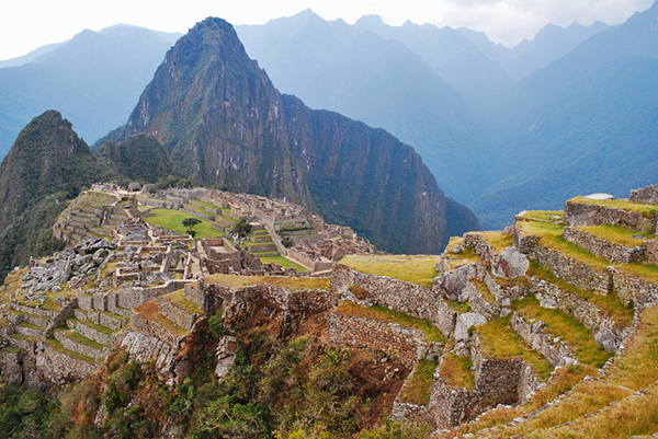 Incan Ruins of Machu Picchu in Peru