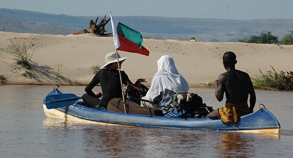 Canoe on the Manambolo River