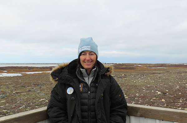 Karin Delany on a Churchill polar bear tour
