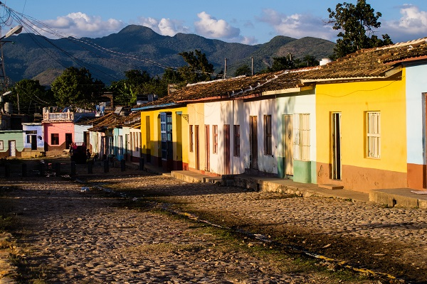 Colorful buildings in Trinidad, Cuba