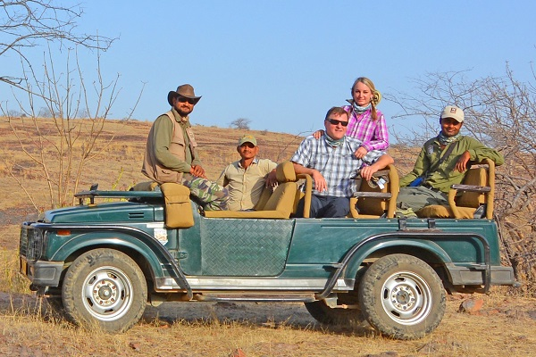 Nature travelers on an India safari