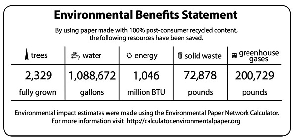 2018 Environmental Benefits Statement