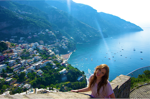 Girl in Positano, Italy
