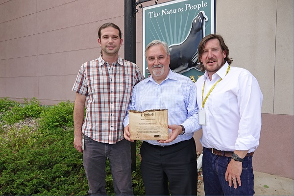 Natural Habitat Adventures accepts the Climate Champion Award