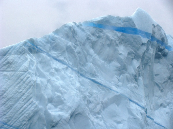 Iceberg in East Greenland fjord