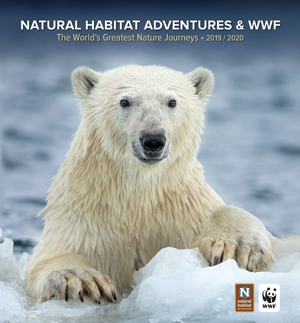 Front cover World Wildlife Fund 2019 nature travel catalog