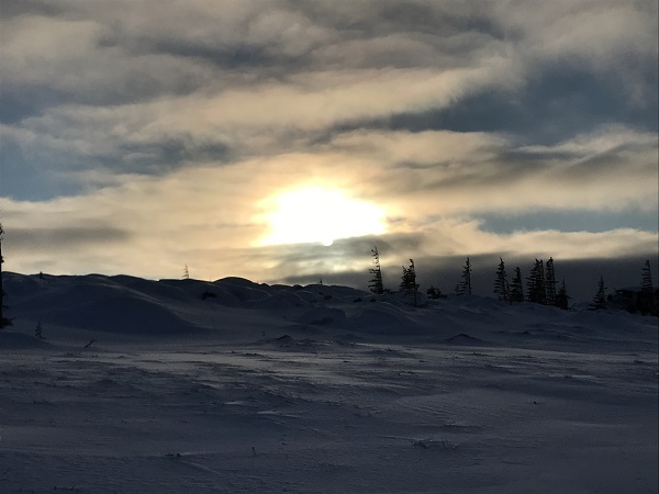 Sunrise in Churchill, Canada