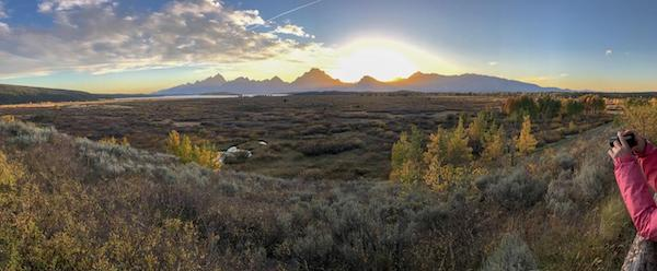 Sunset in the Tetons.