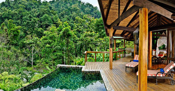 Costa Rica ecolodge in the jungle.