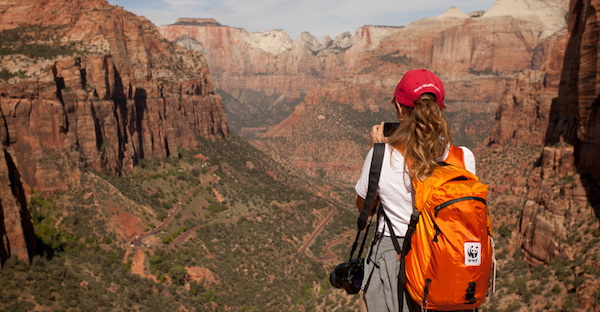 Nat Hab traveler photographing the Grand Canyon.