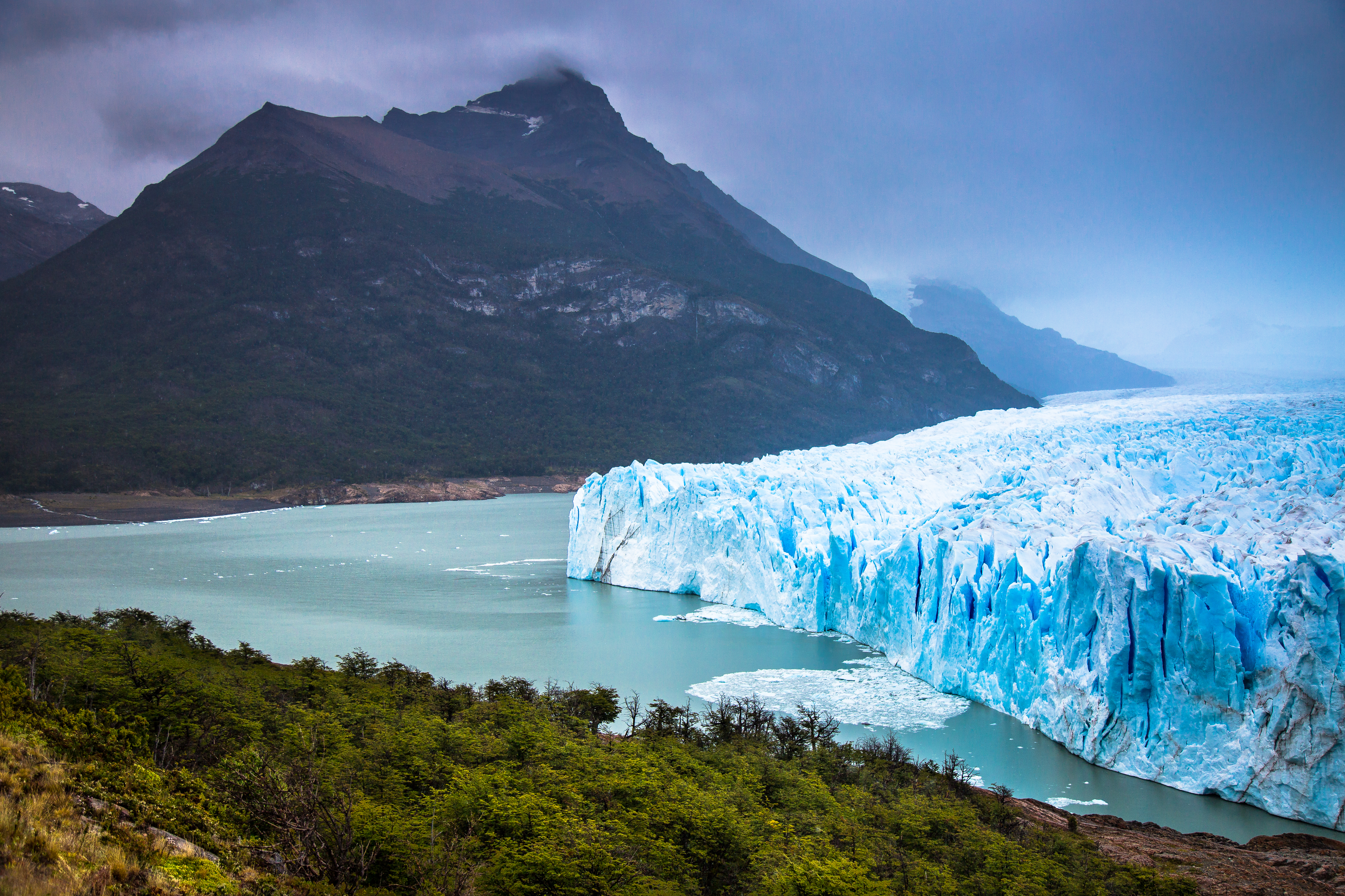 Upsala Glacier in Los Glaciares National Park in Argentina.